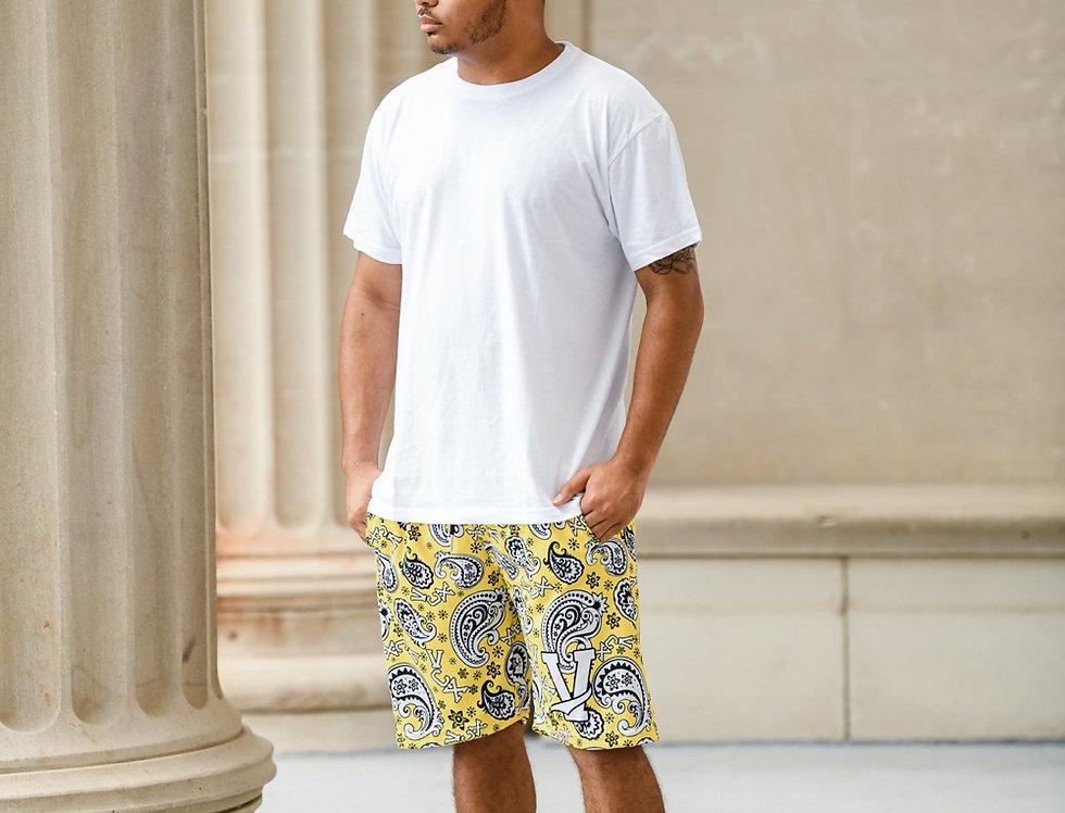 Paisley Mesh Shorts