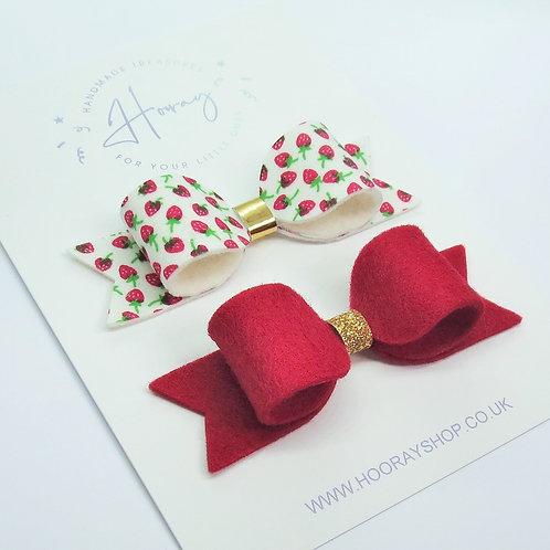 Strawberry Bow Set