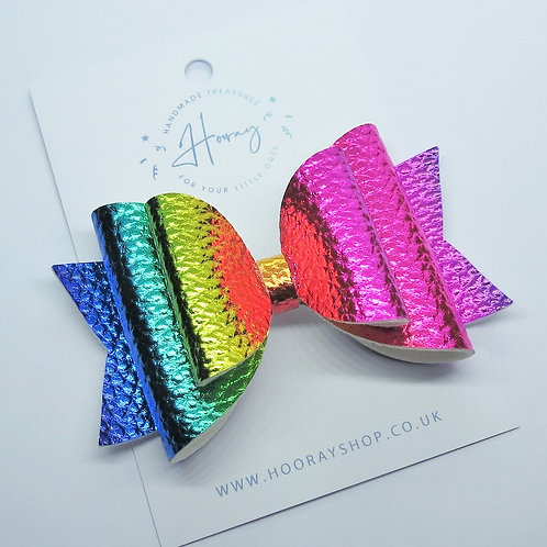 Metallic Rainbow Bow