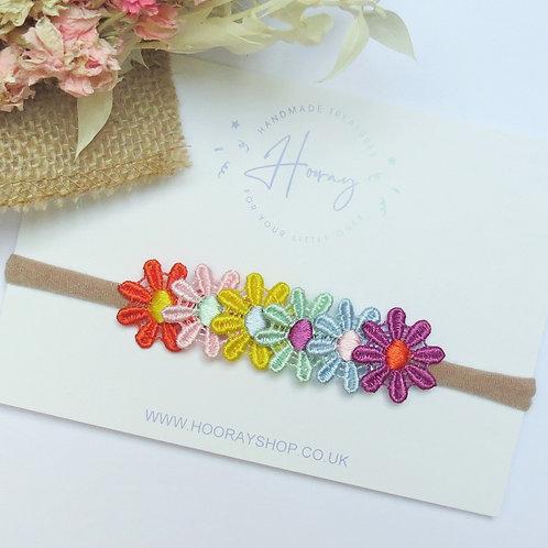 Rainbow Daisy Headband