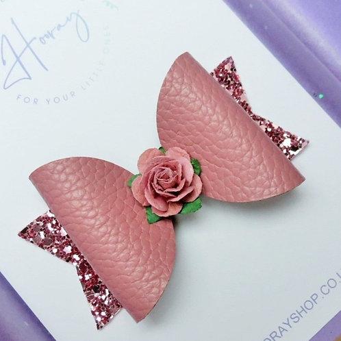 Dusky Pink Hair Bow