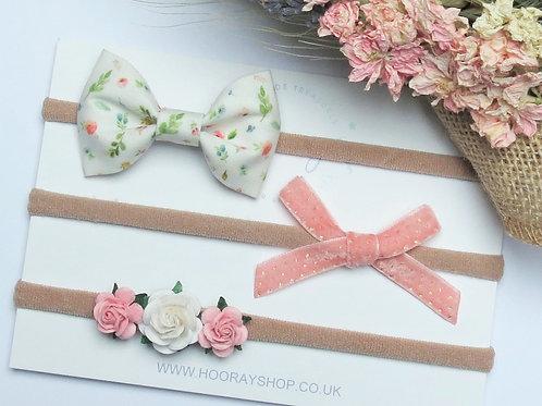 handmade baby headbands UK front view