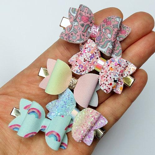 Rainbows & Unicorns Mini Bows