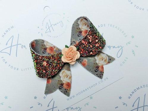 Autumn Glitter Hair Bow