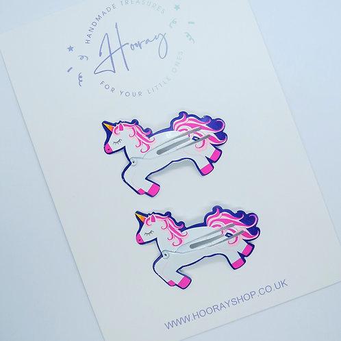 Unicorn Snap Clip Set