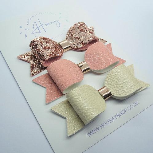 Rose Gold Bow Set