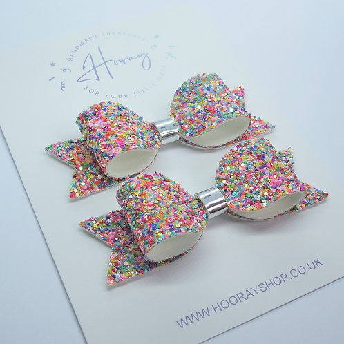 Confetti Pigtail Bows