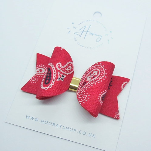 red hair bow front view