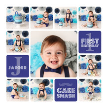 Navy Blue Cake Smash