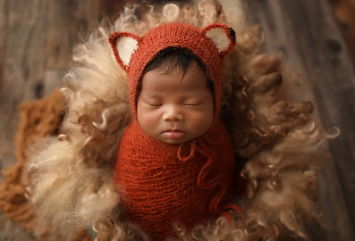Newborn Fox Posing
