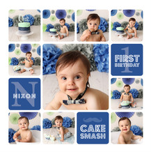 Mint and Blue Cake Smash