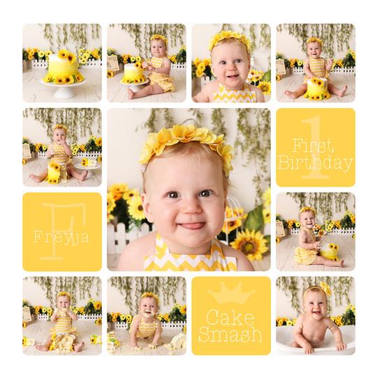 Yellow Sunflower Cake Smash