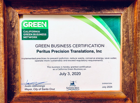 Proud to be a Certified California Green Business
