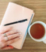 study, tea, pen