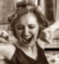 Woman Girl Curler Hairstyle Facial Expre