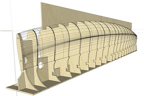 V8 Plan with Laser Cut Frames File