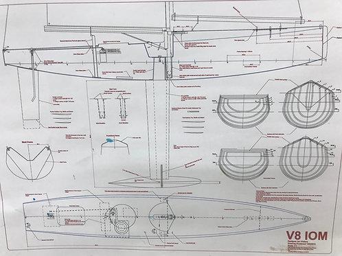 V8 Wooden Boat Drawing