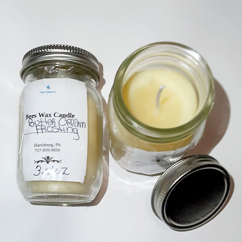 Butter Cream (beeswax candle) small
