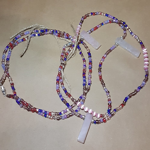 Rose Quartz Waist Beads Set