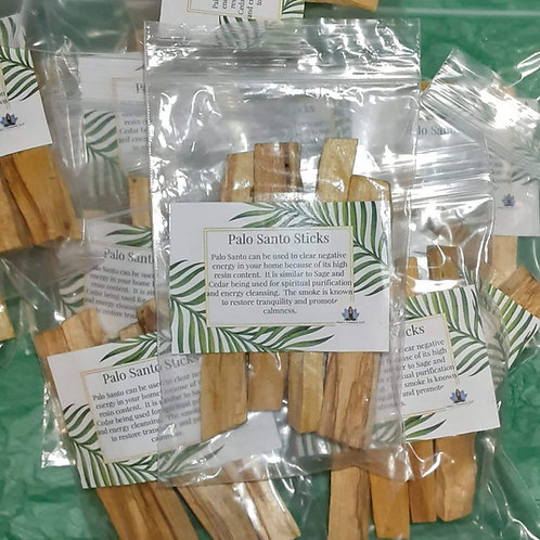 Palo Santo  Sticks ( 4 in bag )