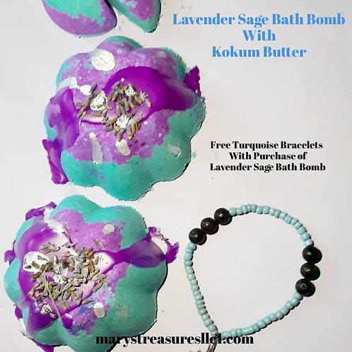 Purple Sage and Lavender Bath Bomb