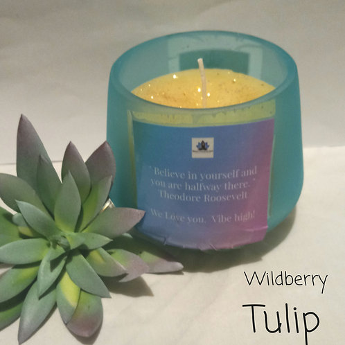 Wildberry Tulip Intention Candle (beeswax)