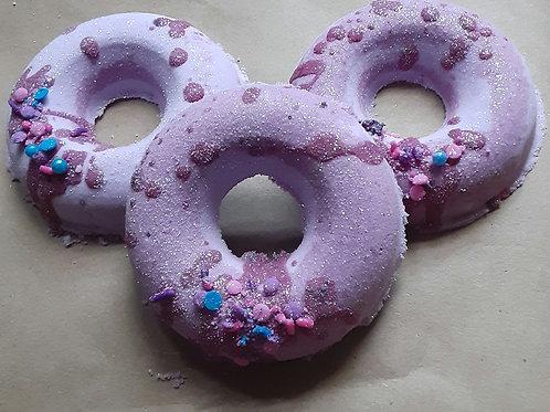 Mulberry Doughnut Bath Bomb 2pk