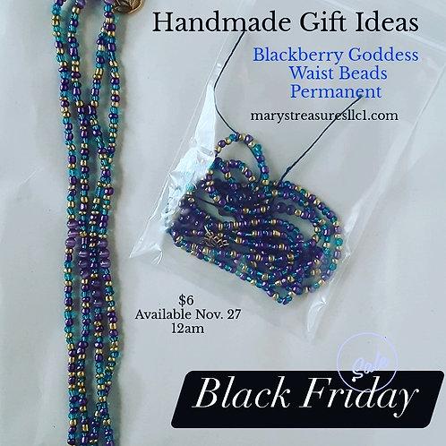 BlackBerry Goddess Waist Beads ( permanent )