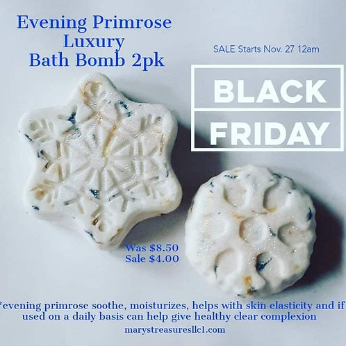 Evening Primrose Bath Bomb (2 Pack)
