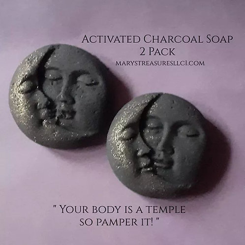 Activated Charcoal Soap 2pk