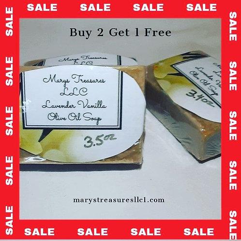 Lavender Vanilla Olive Oil Soap (Small)