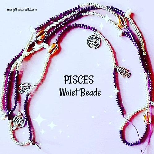 Pisces Waist Beads (Permanent) (Double Wrap)