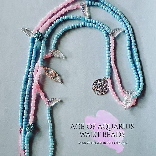 Age of Aquarius Waist Beads ( Double Wrap )