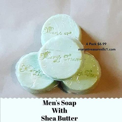 Men's Shea Soap ( Unscented)