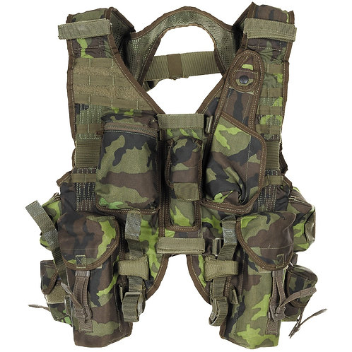 Gilet intervention tactique Tchèque camo M95
