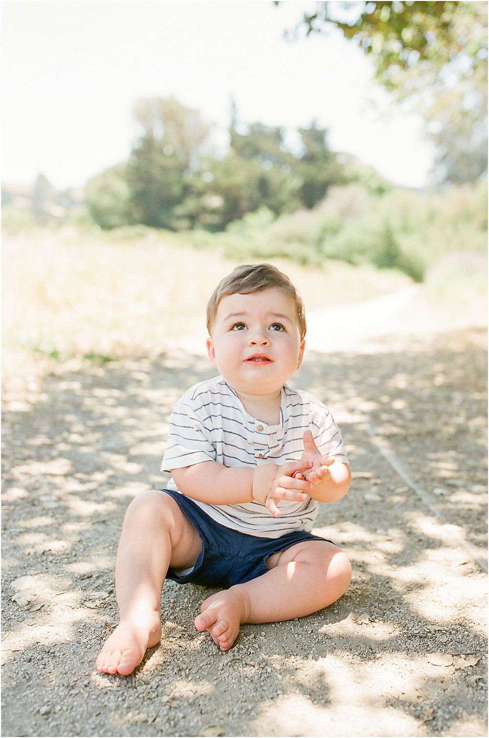 Mill Valley Marin North Bay first year one years old portrait photography session shot on film by fine art bright and airy lifestyle photographer Torrey Fox