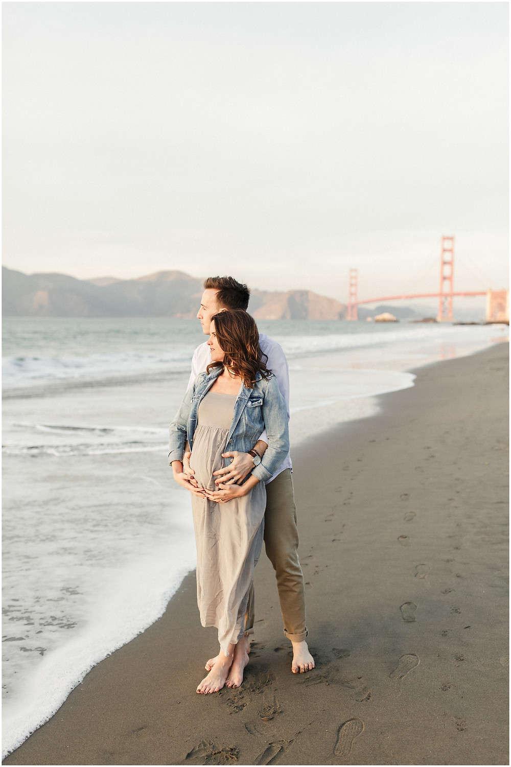 San Francisco maternity session photography at Baker beach by Torrey Fox Photography