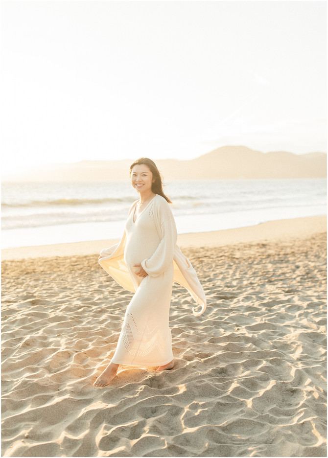 Baker Beach Maternity session | Linda & Ray