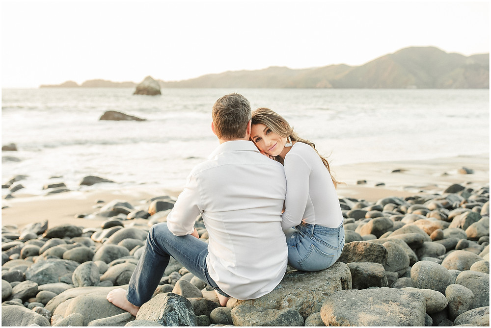San Francisco engagement session at Marshall's Beach by Torrey Fox Photography