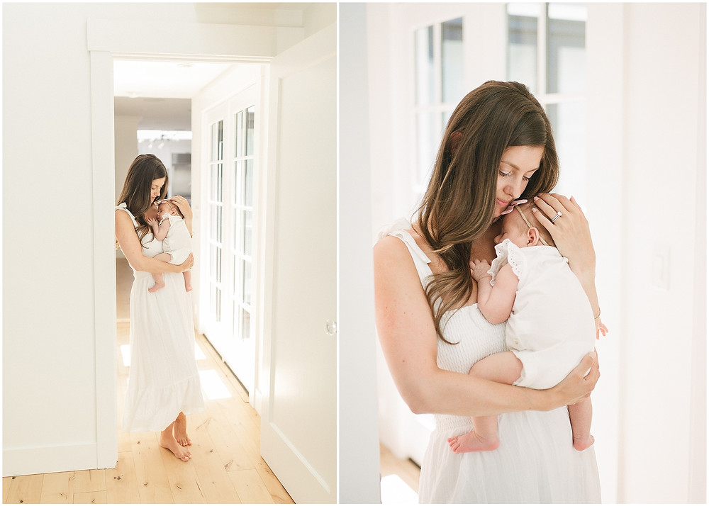 South Bay bright and airy fine art lifestyle newborn session by San Francisco Bay Area photographer Torrey Fox. White outfits newborn style what to wear to my newborn session