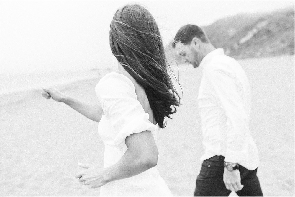 San Francisco engagement session at Baker Beach by fine art lifestyle and portrait photographer Torrey Fox