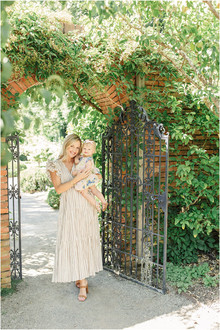 Pregnancy Announcement Maternity Portraits at Filoli Gardens