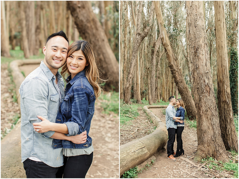 San Francisco engagement photographed at Lovers Lane by Torrey Fox
