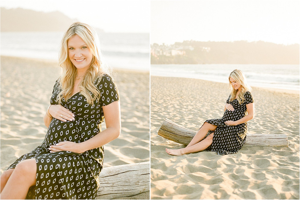 Baker Beach maternity session photography by San Francisco fine art maternity, newborn and family photographer Torrey Fox