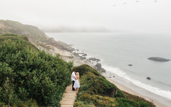 San Francisco Baker Beach Marshall's Beach engagement session by Bay Area fine art wedding elopement
