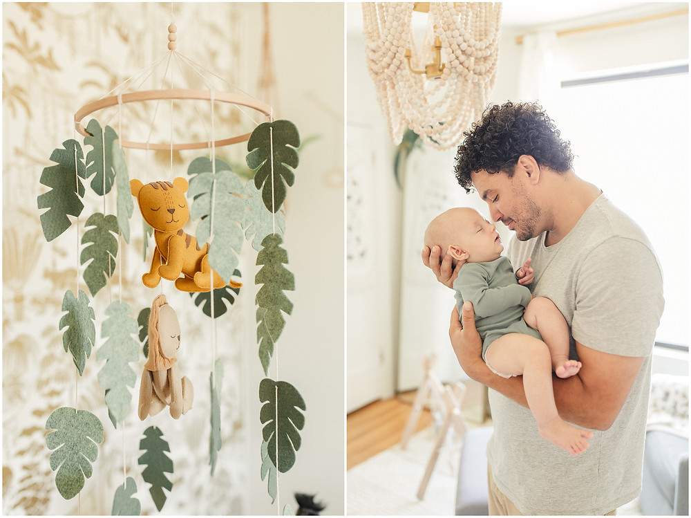 Oakland 4 month baby session lifestyle family newborn maternity photography by San Francisco Bay Area fine art authentic bright airy photographer Torrey Fox. Safari nursery decor inspiration