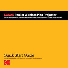 Manuel Kodak Pocket Wireless Pico Projector