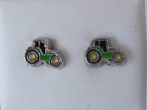 Little Green Tractor earrings