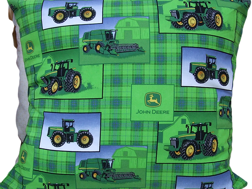 Green John Deere Tractor Cushion squares