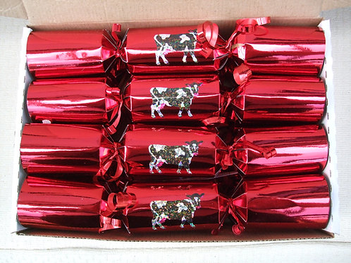 "8 x Red Cow Crackers - Medium 10"""